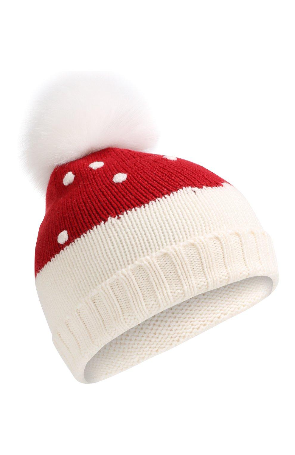 Детского кашемировая шапка LORO PIANA красного цвета, арт. FAI4675 | Фото 1 (Материал: Кашемир, Шерсть; Статус проверки: Требуются правки, Проверена категория)