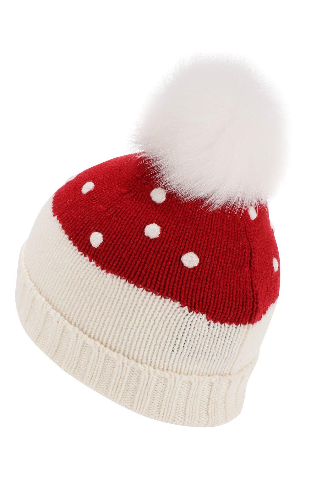 Детского кашемировая шапка LORO PIANA красного цвета, арт. FAI4675 | Фото 2 (Материал: Кашемир, Шерсть; Статус проверки: Требуются правки, Проверена категория)