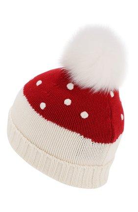 Детского кашемировая шапка LORO PIANA красного цвета, арт. FAI4675 | Фото 2