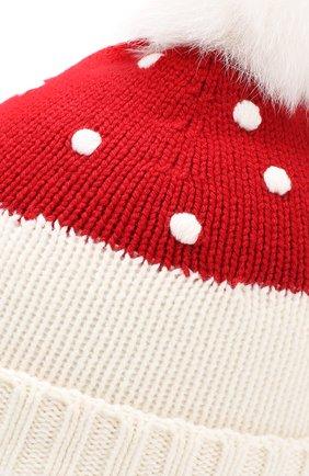 Детского кашемировая шапка LORO PIANA красного цвета, арт. FAI4675 | Фото 3 (Материал: Кашемир, Шерсть; Статус проверки: Требуются правки, Проверена категория)