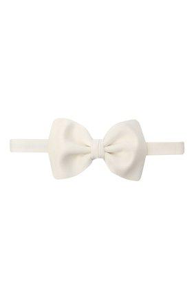 Мужской шелковый галстук-бабочка BRIONI белого цвета, арт. 01L200/0546M | Фото 1