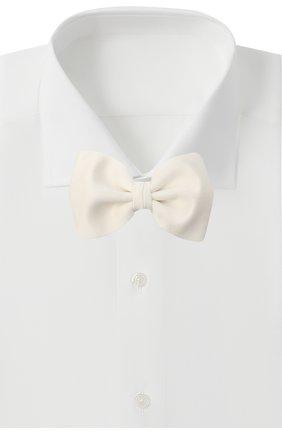 Мужской шелковый галстук-бабочка BRIONI белого цвета, арт. 01L200/0546M | Фото 2