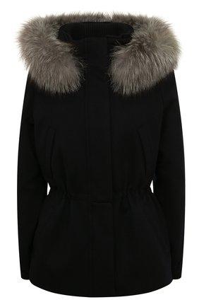 Женская кашемировая куртка  LORO PIANA темно-синего цвета, арт. FAF8086 | Фото 1