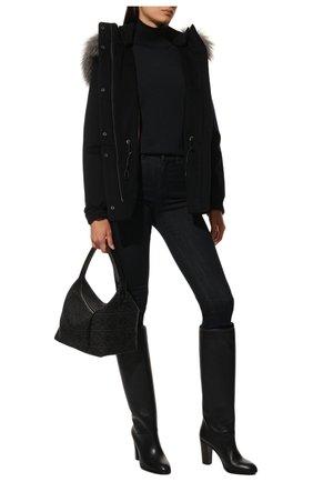 Женская кашемировая куртка  LORO PIANA темно-синего цвета, арт. FAF8086 | Фото 2