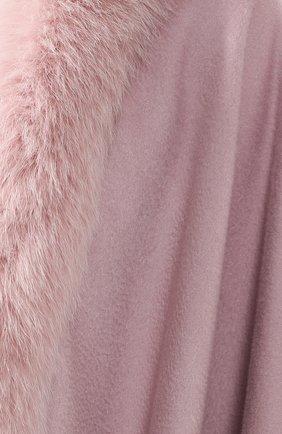 Кашемировое пончо Sofiacashmere светло-розовая | Фото №5