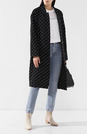Женское шерстяное пальто STELLA MCCARTNEY черного цвета, арт. 549674/SMB11 | Фото 2
