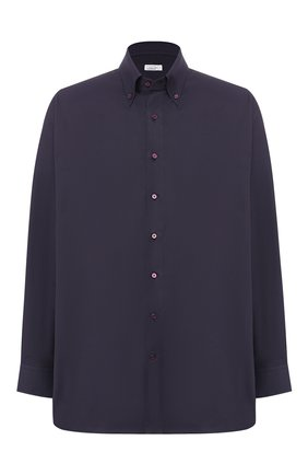 Мужская хлопковая рубашка с воротником button down ZILLI фиолетового цвета, арт. MFQ-MERCU-01077/RE01 | Фото 1