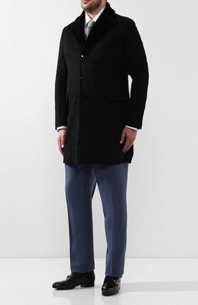 Кашемировое пальто с норковым воротником | Фото №2