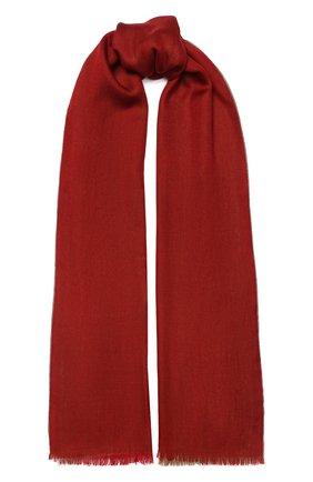 Мужской шарф из кашемира и шелка LORO PIANA красного цвета, арт. FAF6131 | Фото 1