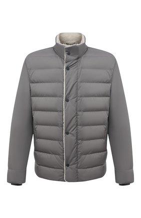 Мужская пуховая куртка wind storm LORO PIANA серого цвета, арт. FAI5658 | Фото 1