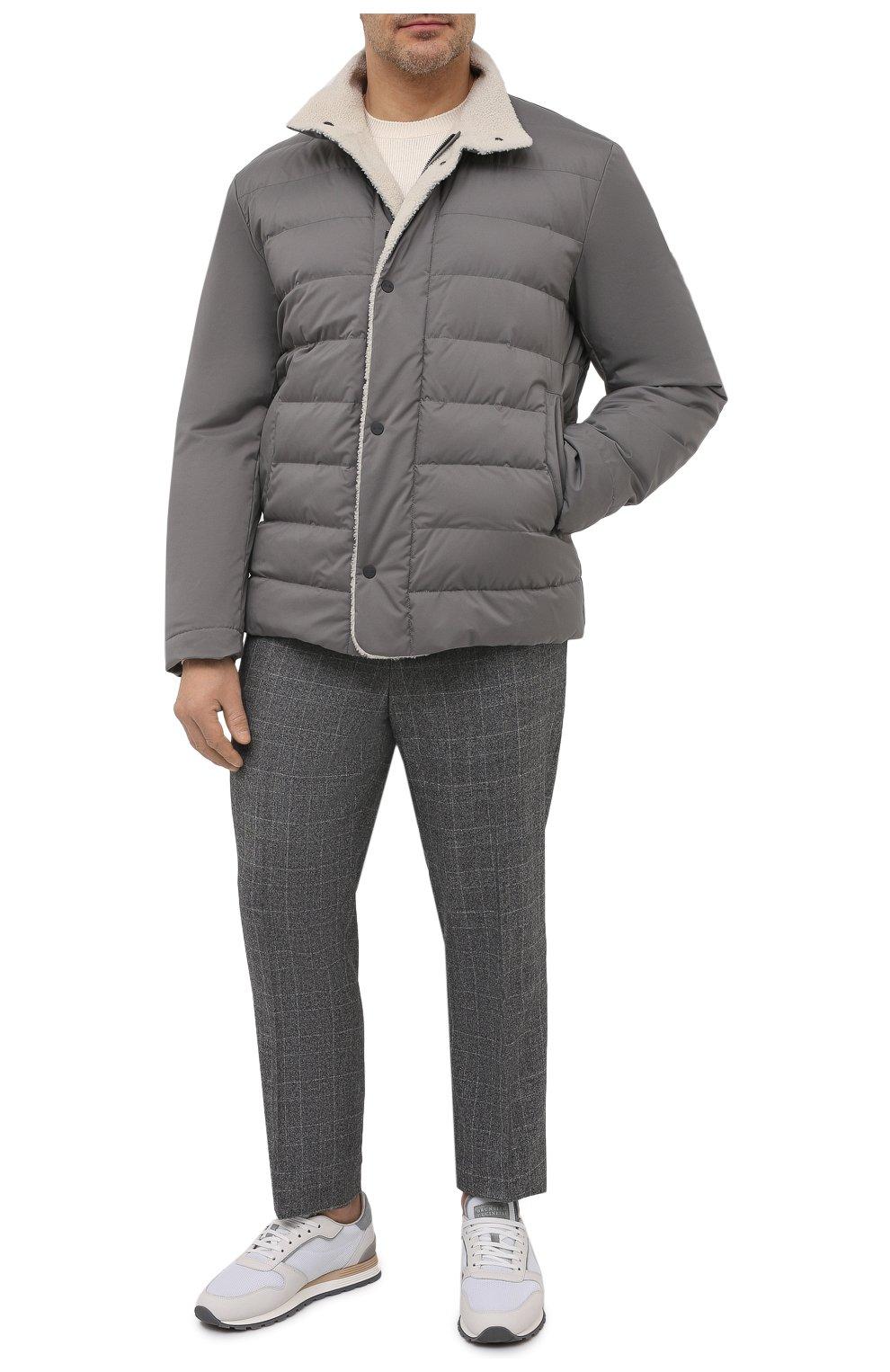 Мужская пуховая куртка wind storm LORO PIANA серого цвета, арт. FAI5658 | Фото 2