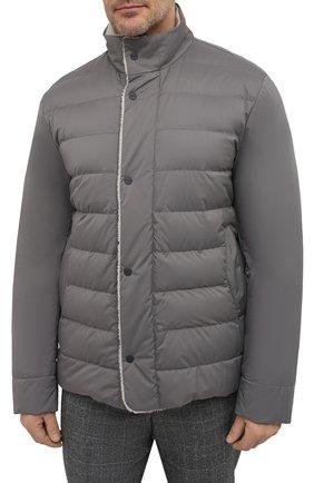 Мужская пуховая куртка wind storm LORO PIANA серого цвета, арт. FAI5658 | Фото 3