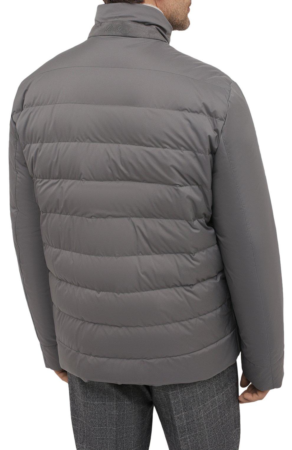 Мужская пуховая куртка wind storm LORO PIANA серого цвета, арт. FAI5658 | Фото 4