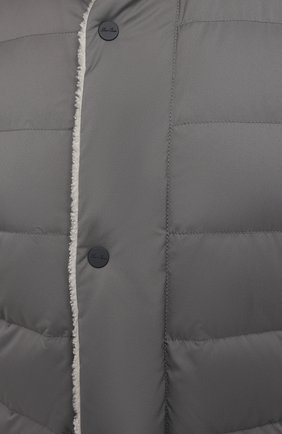 Мужская пуховая куртка wind storm LORO PIANA серого цвета, арт. FAI5658 | Фото 5