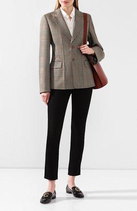Женские кожаные лоферы CHLOÉ черного цвета, арт. CHC19S13306 | Фото 2
