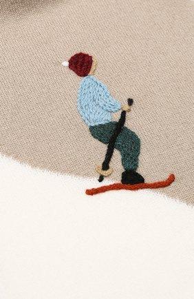 Детский кашемировый шарф LORO PIANA бежевого цвета, арт. FAI4674   Фото 2