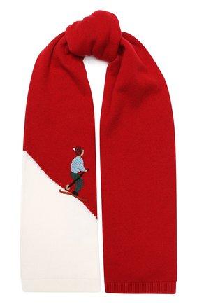 Детский кашемировый шарф LORO PIANA красного цвета, арт. FAI4674 | Фото 1
