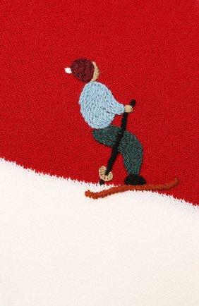 Детский кашемировый шарф LORO PIANA красного цвета, арт. FAI4674 | Фото 2