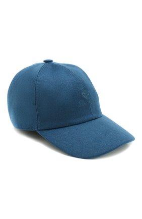 Детская кашемировая бейсболка LORO PIANA синего цвета, арт. FAF4334 | Фото 1