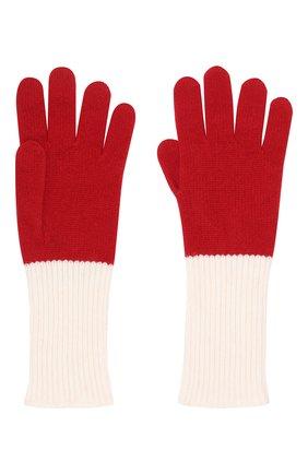 Женские кашемировые перчатки LORO PIANA красного цвета, арт. FAI4685 | Фото 2 (Статус проверки: Проверено, Проверена категория; Материал: Шерсть, Кашемир)