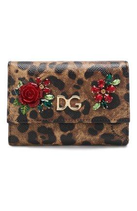 Кожаный кошелек с леопардовым принтом | Фото №1