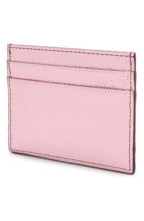 Женский кожаный футляр для кредитных карт DOLCE & GABBANA светло-розового цвета, арт. BI0330/AC184 | Фото 2