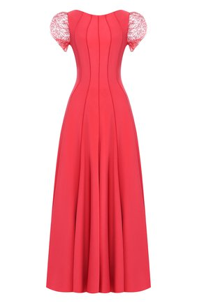Женское шелковое платье-макси GIORGIO ARMANI разноцветного цвета, арт. 9SHVR00N/T00WJ | Фото 1 (Рукава: Короткие; Материал внешний: Шелк)