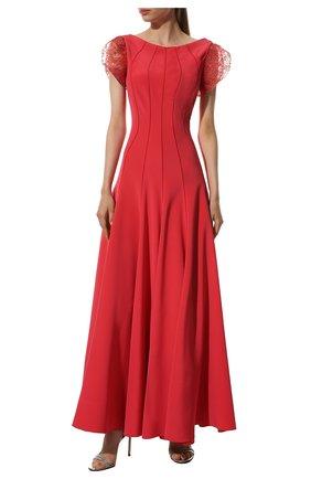 Женское шелковое платье-макси GIORGIO ARMANI разноцветного цвета, арт. 9SHVR00N/T00WJ | Фото 2 (Рукава: Короткие; Материал внешний: Шелк)
