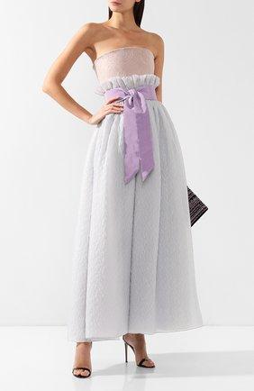 Шелковое платье-макси Giorgio Armani сиреневое | Фото №2