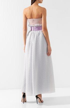 Шелковое платье-макси Giorgio Armani сиреневое | Фото №3