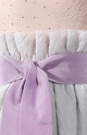 Шелковое платье-макси Giorgio Armani сиреневое | Фото №5