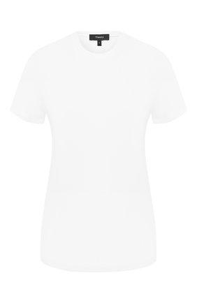Женская хлопковая футболка THEORY белого цвета, арт. I1124510 | Фото 1