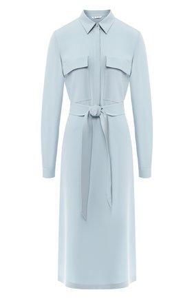 Шелковое платье с поясом | Фото №1