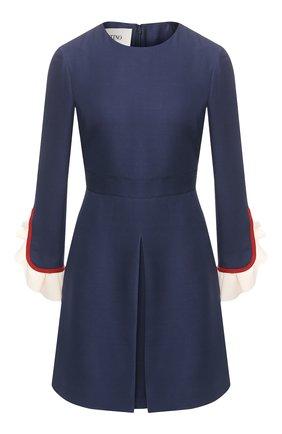 Платье из смеси шерсти и шелка   Фото №1