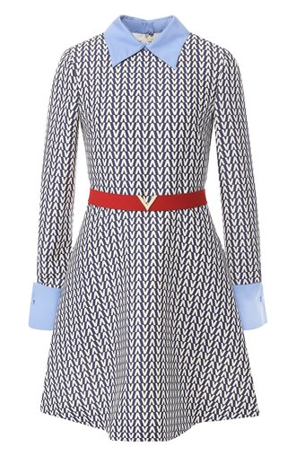 Платье из смеси шерсти и шелка