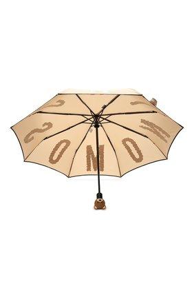 Складной зонт с принтом Moschino темно-бежевый   Фото №3