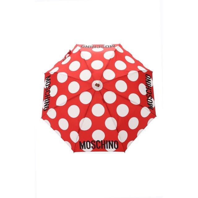 Складной зонт с принтом Moschino