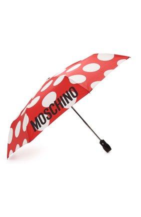 Женский складной зонт с принтом MOSCHINO красного цвета, арт. 8023-0PENCL0SE | Фото 2