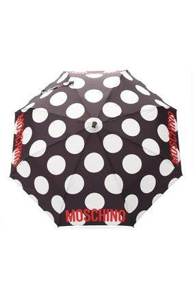 Женский складной зонт с принтом MOSCHINO черного цвета, арт. 8023-0PENCL0SE | Фото 1