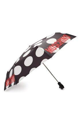 Женский складной зонт с принтом MOSCHINO черного цвета, арт. 8023-0PENCL0SE | Фото 2