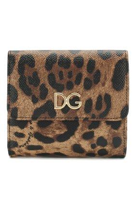 Женские кожаный кошелек с леопардовым принтом DOLCE & GABBANA леопардового цвета, арт. BI1027/AI915 | Фото 1
