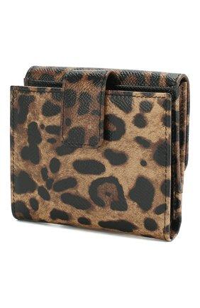 Женские кожаный кошелек с леопардовым принтом DOLCE & GABBANA леопардового цвета, арт. BI1027/AI915 | Фото 2