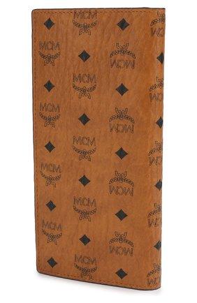 Портмоне с логотипом бренда MCM коричневого цвета   Фото №2