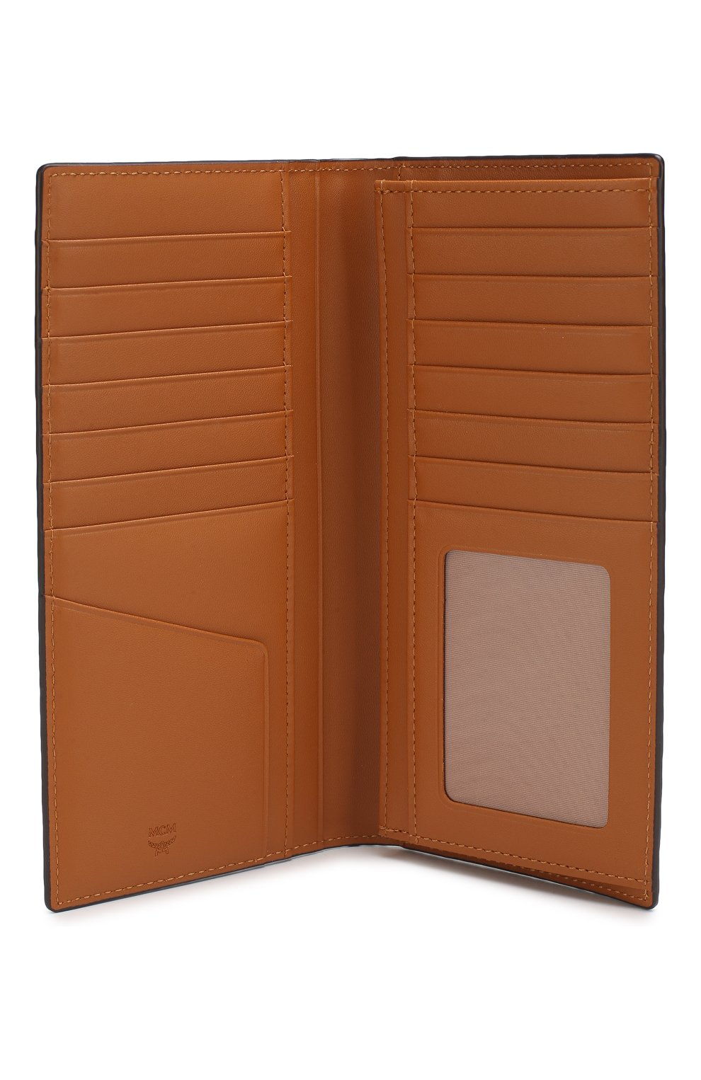Портмоне с логотипом бренда MCM коричневого цвета   Фото №3