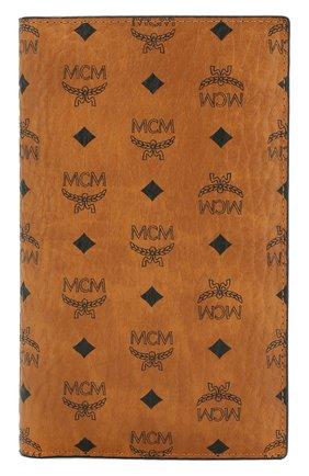 Женские обложка для паспорта с футляром на молнии MCM коричневого цвета, арт. MYV 8SVI50 | Фото 1