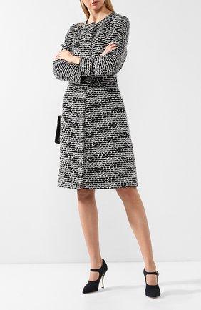 Женская текстильные туфли mary jane  DOLCE & GABBANA черного цвета, арт. CD1216/AZ161 | Фото 2