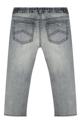 Детские джинсы с декоративными потертостями EMPORIO ARMANI синего цвета, арт. 8NEJ23/3DCDZ | Фото 2