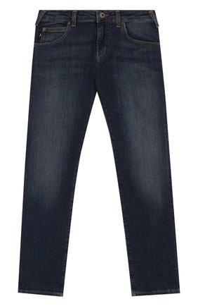 Детские джинсы EMPORIO ARMANI синего цвета, арт. 8N4J45/1V0MZ | Фото 1