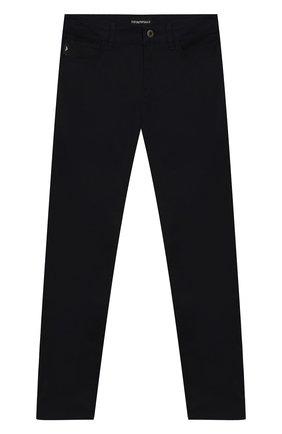 Детские джинсы прямого кроя EMPORIO ARMANI темно-синего цвета, арт. 8N4J06/4NFUZ | Фото 1