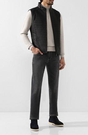 Мужские джинсы прямого кроя ANDREA CAMPAGNA серого цвета, арт. AC302/T28.W839 | Фото 2